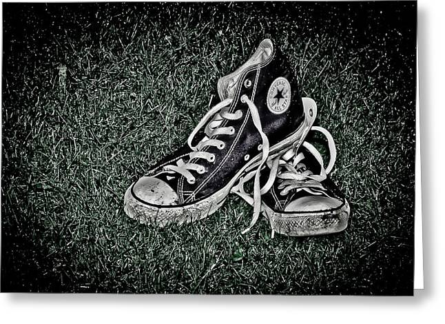 Conversing Photographs Greeting Cards - Old Converse Greeting Card by Gert Lavsen