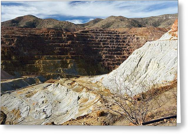 Bisbee Greeting Cards - Old Copper Mine At Bisbee Greeting Card by Bob Gibbons