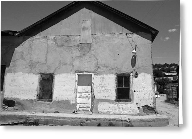 Elizabeth Rose Greeting Cards - Old Cordova Building in Black and White Greeting Card by Elizabeth Rose