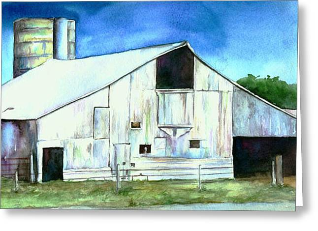 Cornfield Paintings Greeting Cards - Old Country Barn Greeting Card by Christy  Freeman