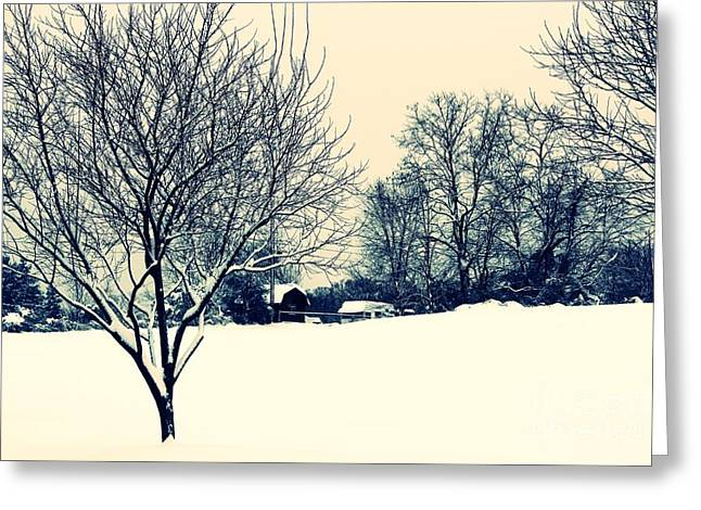 Winter Road Scenes Digital Greeting Cards - Old Country Christmas 3 Greeting Card by Dan Stone