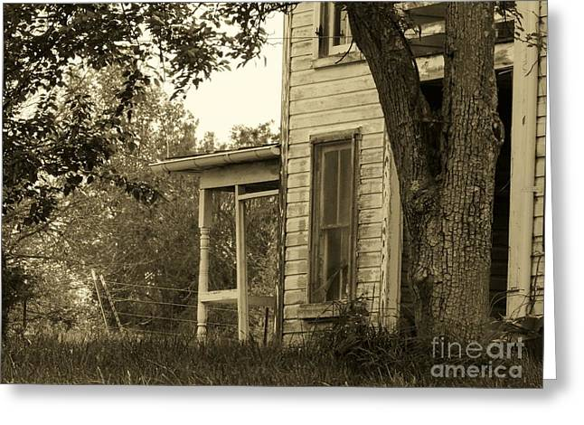 Abandoned Houses Greeting Cards - Old Country Porch Greeting Card by Joyce Kimble Smith