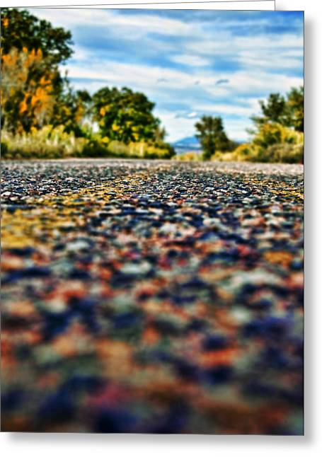 Old Roadway Greeting Cards - Old Country Road Greeting Card by Ray Laskowitz - Printscapes