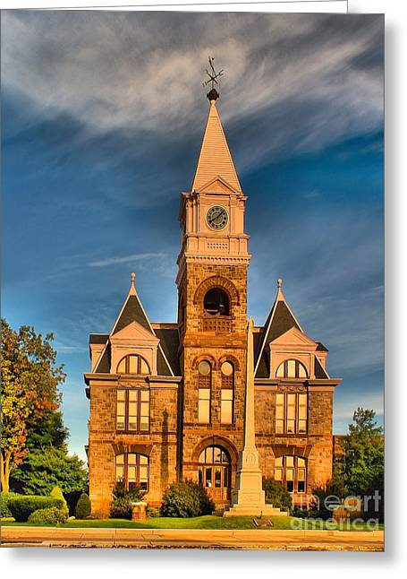 Woodbury Greeting Cards - Old Courthouse Greeting Card by Nick Zelinsky
