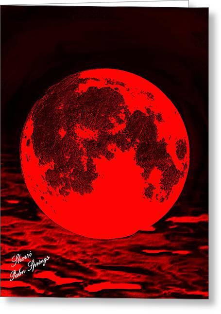 Digital Art Greeting Cards - Old Devil Moon Greeting Card by Sherri  Of Palm Springs