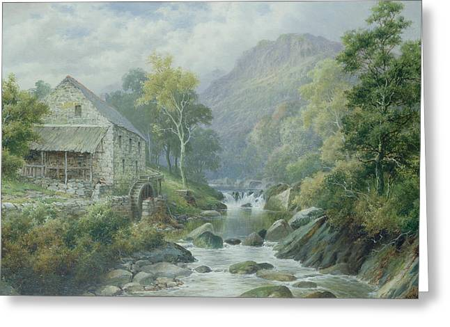 Disused Greeting Cards - Old Disused Mill Dolgelly Greeting Card by William Henry Mander