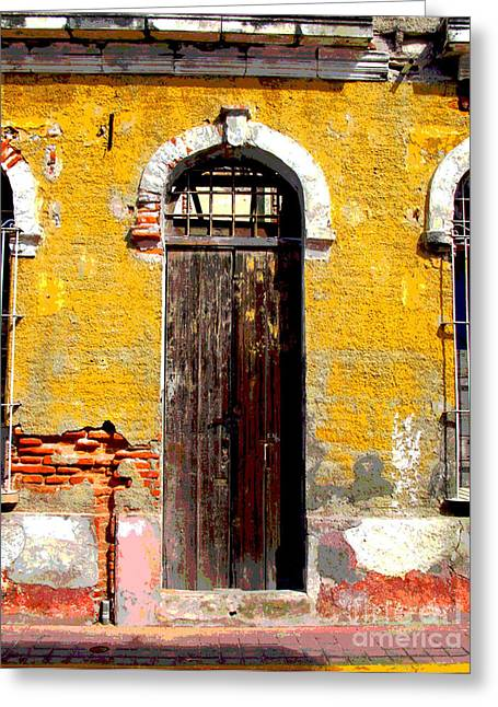 Gypsy Greeting Cards - Old Door 2 by Darian Day Greeting Card by Olden Mexico