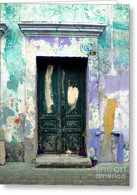 Gypsy Greeting Cards - Old Door 4 by Darian Day Greeting Card by Olden Mexico