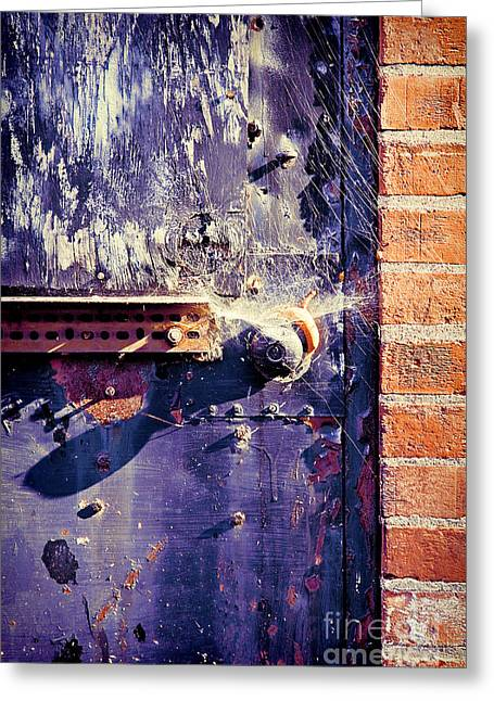 Old Door Greeting Cards - Old Door Greeting Card by HD Connelly
