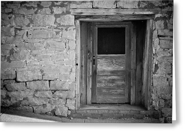 Tennessee Barn Digital Art Greeting Cards - Old Door Greeting Card by Paul Bartoszek