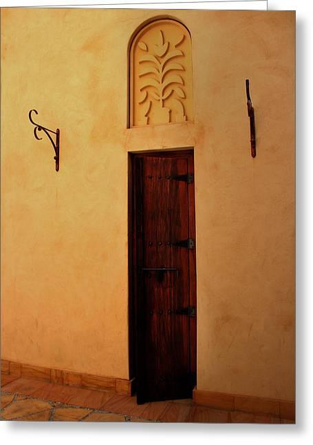Old Door Greeting Card by Radoslav Nedelchev