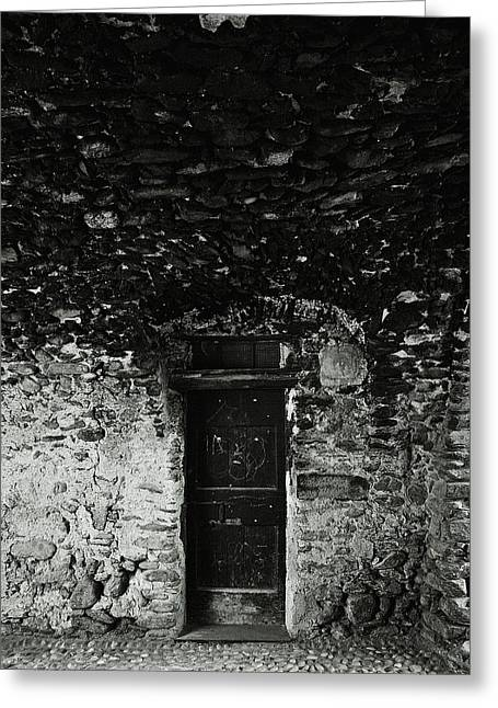 Architectur Greeting Cards - Old door under the porch Greeting Card by Ettore Zani