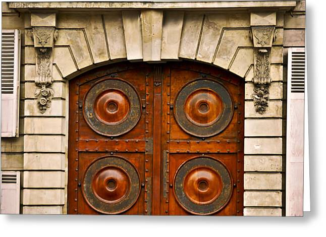 Old doors Greeting Card by Elena Elisseeva