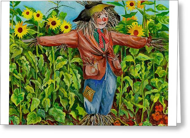 Sunflower Patch Greeting Cards - Old Dunger Greeting Card by Val Stokes