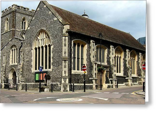 Old English Church Uxbridge Uk Greeting Card by Lynne Dymond