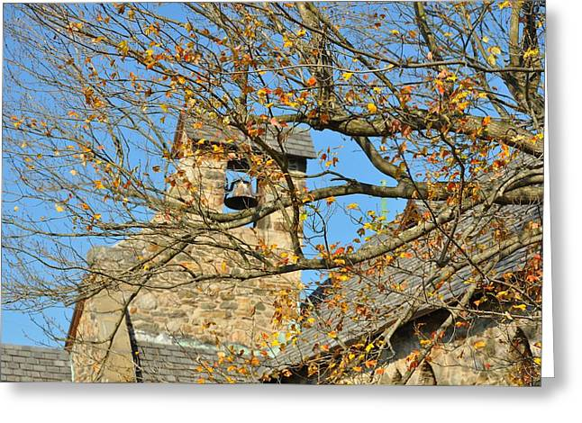 Bird Congregation Greeting Cards - Old English Gothic Greeting Card by JAMART Photography