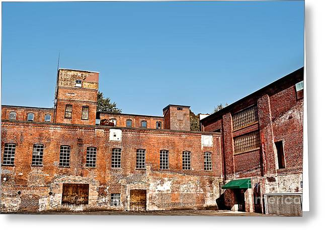 Abandonment Greeting Cards - Old Factory Greeting Card by HD Connelly