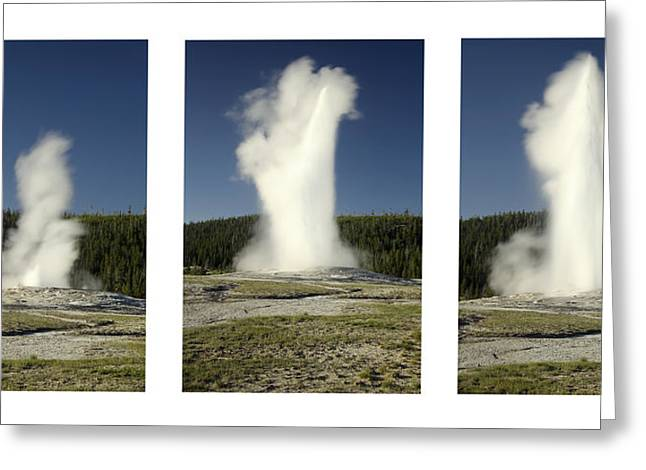 Geysers Greeting Cards - Old Faithful Greeting Card by Andrew Soundarajan
