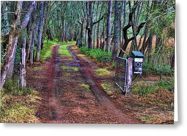 """digital Art"" Greeting Cards - Old farm entrance Greeting Card by Fran Woods"