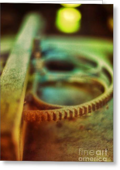 Old Gears Greeting Cards - Old Farm Equipment Greeting Card by HD Connelly