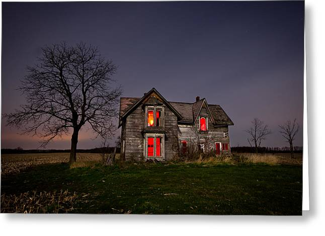 Scary Houses Greeting Cards - Old Farm House Greeting Card by Cale Best