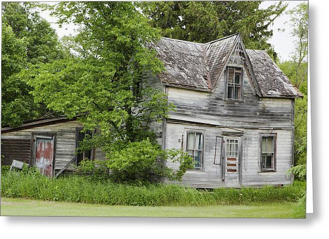 Abode Greeting Cards - Old Farm House Manitoba, Canada Greeting Card by Susan Dykstra