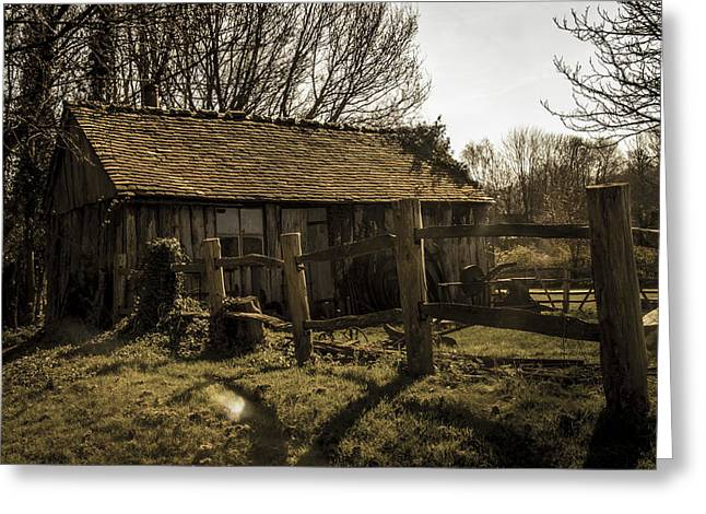 Shed Photographs Greeting Cards - Old Fashioned Shed Greeting Card by Dawn OConnor