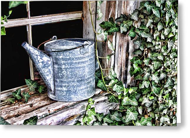 Sprinkling Can Greeting Cards - Old Fashioned Sprinkling Can 2 Greeting Card by Linda Phelps