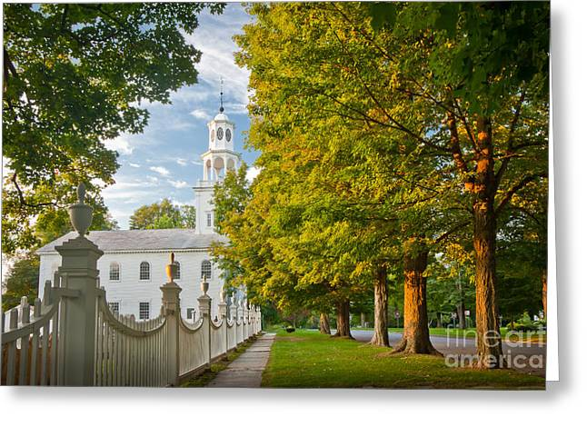 Vermont Village Greeting Cards - Old First Churchin Bennington Greeting Card by Susan Cole Kelly