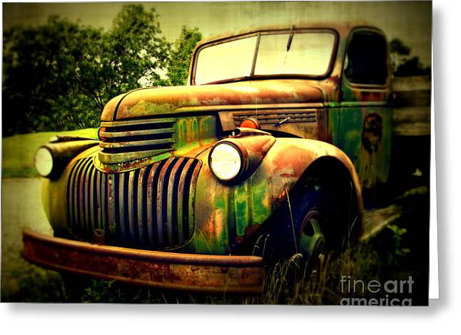Old Truck Photography Greeting Cards - Old Flatbed 2 Greeting Card by Perry Webster
