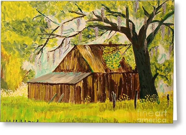 Shed Drawings Greeting Cards - Old Florida Farm Shed Greeting Card by Bill Hubbard