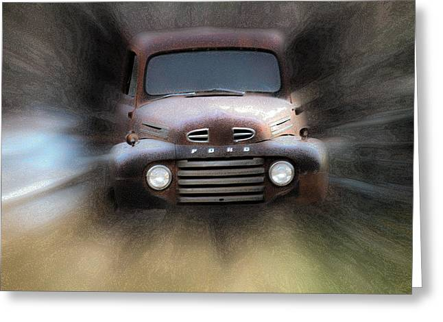 1949 Plymouth Greeting Cards - Old Ford Comming at Ya Greeting Card by Steve McKinzie