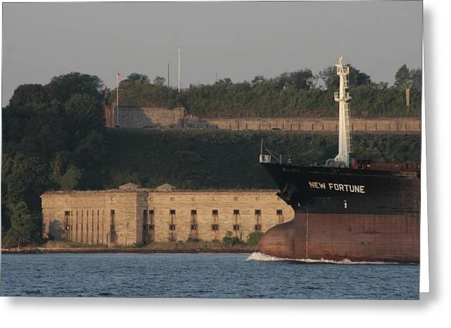 Seafarer Greeting Cards - Old Fort New Fortune Greeting Card by Christopher Kirby