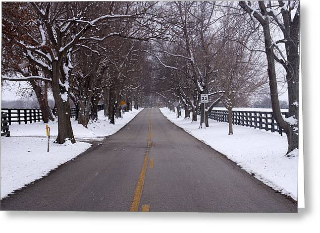 Backroads Greeting Cards - Old Frankforts Winter Coat Greeting Card by Wayne Stacy