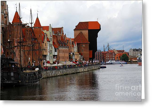 Baltic Sea Greeting Cards - Old Gdansk Port Poland Greeting Card by Sophie Vigneault