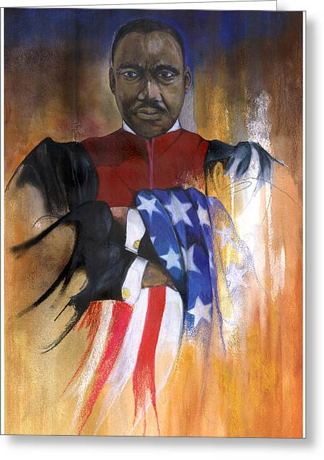 Spirt Greeting Cards - Old Glory Greeting Card by Anthony Burks Sr