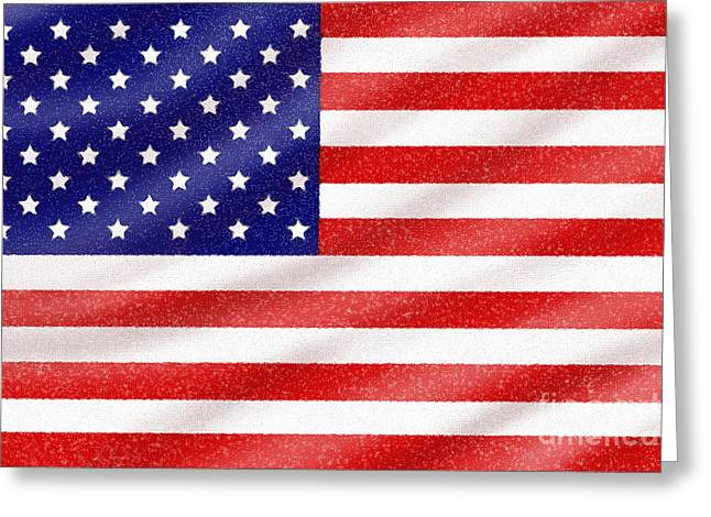 Old Glory Digital Art Greeting Cards - Old Glory Greeting Card by Cristophers Dream Artistry