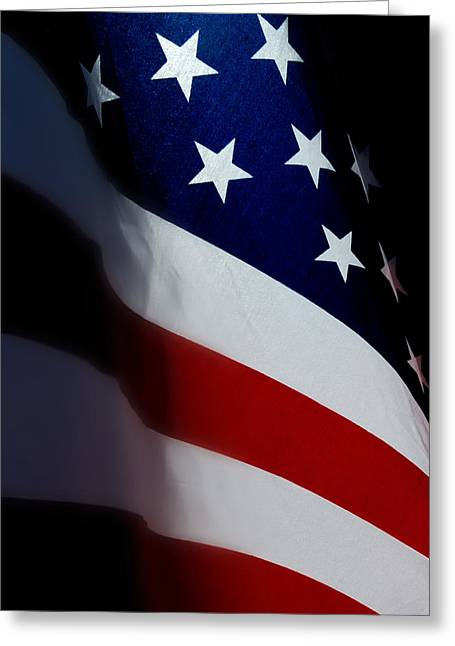 Glory Honor Greeting Cards - Old Glory - The Flag Of A Proud Country Greeting Card by Steven Milner
