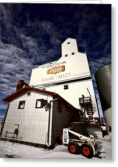 Old Grain Elevator Saskatchewan In Winter Greeting Card by Mark Duffy