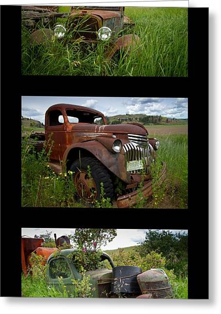 Old Trucks Greeting Cards - Old Guys 7 Greeting Card by Idaho Scenic Images Linda Lantzy
