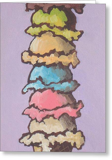 Vanilla Ice Cream Greeting Cards - Old Habits Greeting Card by Sandy Tracey