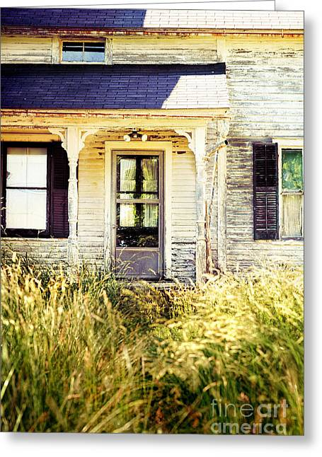 Broken Shutters Greeting Cards - Old Home Greeting Card by HD Connelly