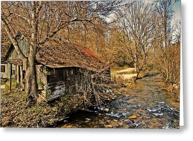 Susan Leggett Greeting Cards - Old Home on a River Greeting Card by Susan Leggett