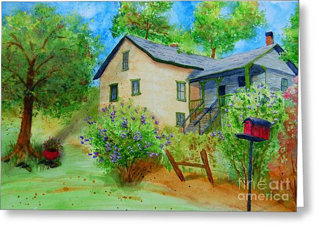 Old Home Place Paintings Greeting Cards - Old Home Place Greeting Card by Diane Toro
