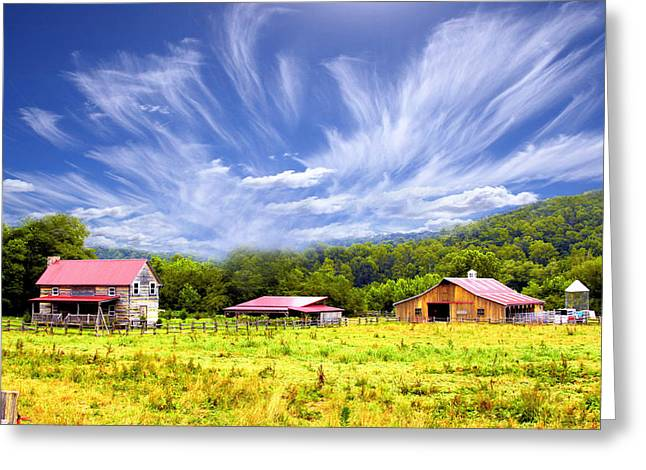 Country Shed Greeting Cards - Old Homestead Greeting Card by Kenneth Mucke