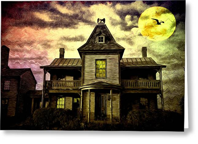 Old House At St Michael's Greeting Card by Bill Cannon