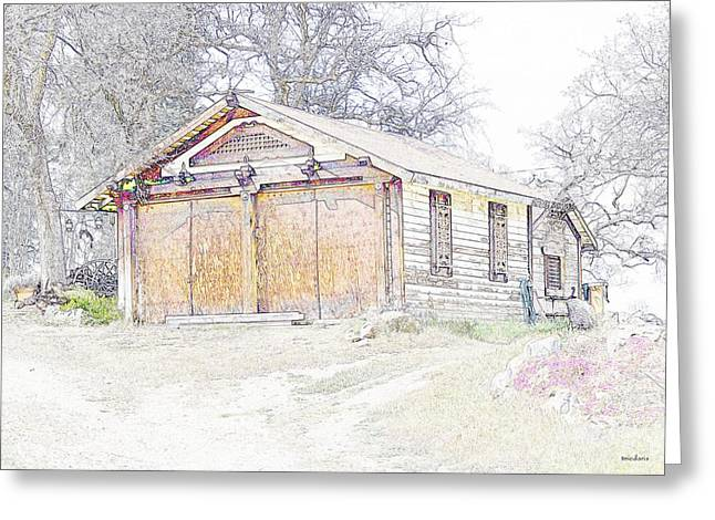 Old Barn Drawing Photographs Greeting Cards - Old House Greeting Card by Thomas Medaris