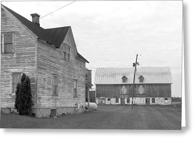Stephen Mack Greeting Cards - Old House with Barn on Clarks Lake Road Greeting Card by Stephen Mack