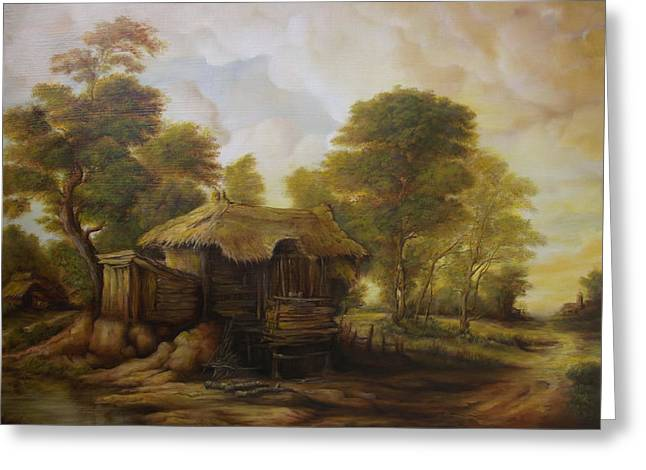Pictura Greeting Cards - Old Hut  Greeting Card by Dan Scurtu