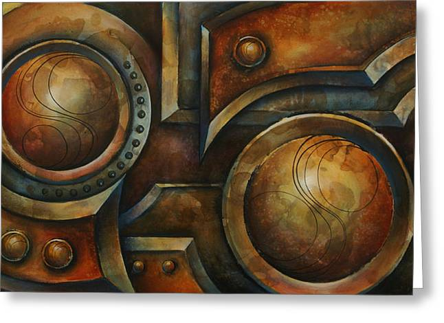 Chain Ring Greeting Cards - Old Iron Greeting Card by Michael Lang